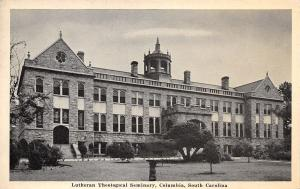 Columbia South Carolina~Lutheran Theological Seminary~Bird Bath~1940s B&W PC