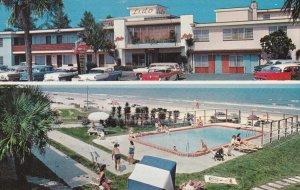 DAYTONA BEACH, Florida, 1950-1960's; Lido Beach Motel And Apartments, Swimmin...