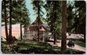 1912 YOSEMITE National PARK Calif. Postcard GLACIER POINT HOTEL View w/ Cancel