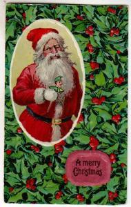 Santa - and Holly
