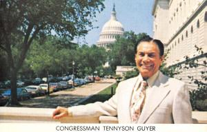 Lima Ohio~Congressman Tennyson Guyer~Re-Election Campaign~1970s Postcard
