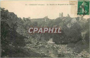 Old Postcard Crozant Creuse Le Moulin Brigand and Ruins