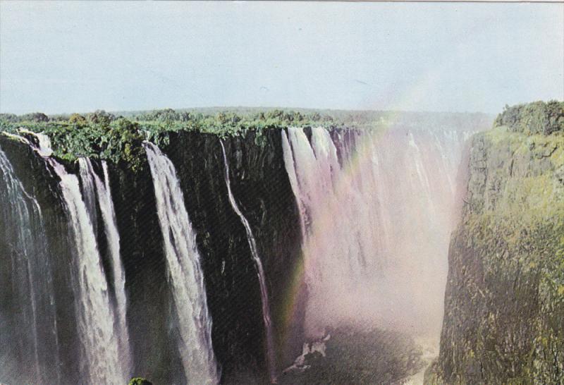 Aerial View, Victoria Falls, RHODESIA, Zimbabwe, 50-70's