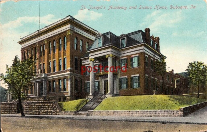 1910 DUBUQUE IA St. Josephs Academy and Sisters Home, Tornasius Cocles, Melchert