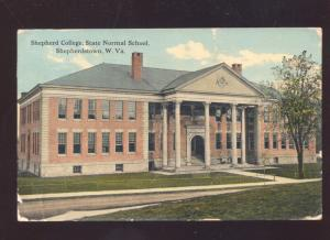 SHEPHERDSTOWN WEST VIRGINIA SHEPHERD COLLEGE NORMAL SCHOOL OLD POSTCARD