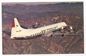 GARUDA - Indonesian Airways, Lockheed L-188C Electra Airplane, 60-70s