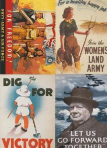 Victory Day Womens Army 4x Military Poster Army Postcard s