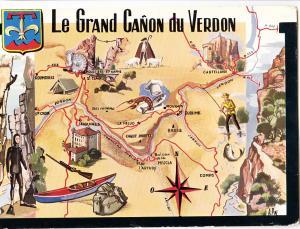 France, Le Grand Canon du Verdon, 1967 used Postcard