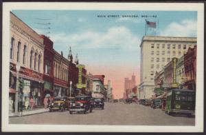 Main Street Oshkosh,WI Postcard