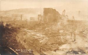 F26/ Astoria Oregon RPPC Postcard c1920s Fire Disaster Buildings Bons St 2