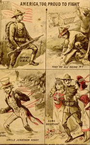 Military, WWI - America, Too, Proud To Fight     (Passed Censor)