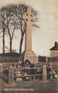 Upper Dovercourt Bay~WWI War Memorial~Soldiers Names~Flowers~Handcolored~c1920
