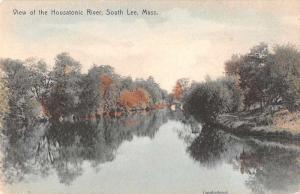 South Lee Massachusetts Housatonic River Hand Colored Antique Postcard J71160