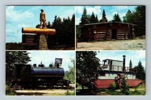 Ontario- Canada, Algonquin Provincial Park, Logging Museum, Chrome Postcard