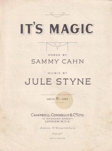 Its Magic Sammy Cahn Olde Sheet Music