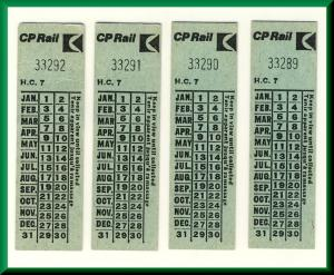 Canadian Pacific (CP) Railway/Railroad/RR Tickets, Pre VIA