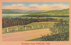 Wisconsin Greetings From Poplar