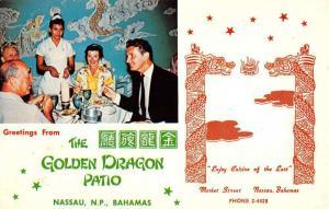 Nassau Bahamas Golden Dragon Patio Restaurant Vintage Postcard K54717
