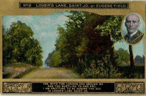 1908 No2 Lovers Lane, Saint Jo MO by Eugene Field Postcard