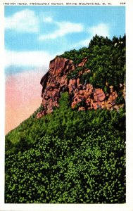 New Hampshire White Mountains Franconia Notch Indian Head 1941