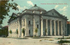 Denver, Colorado, CO, Christian Science Church, Unused Vintage Postcard c8751