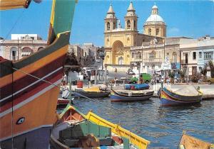 Malta Fishing Village Marsaxlokk Boats Harbour
