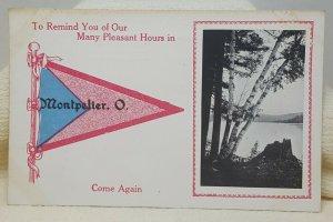 Pleasant Hours Montpelier Ohio Vintage Postcard