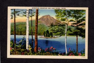 ME Borestone Mtn Mountain Lake Onawa Maine Postcard
