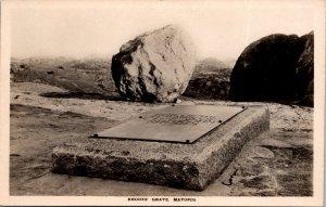 Rhodes Grave Matopos Zimbabwe Postcard unused 1920s RPPC