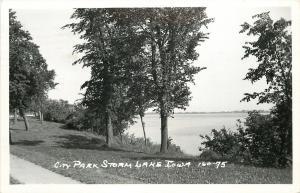 Storm Lake Iowa~Cirty Park~1950 Real Photo Postcard