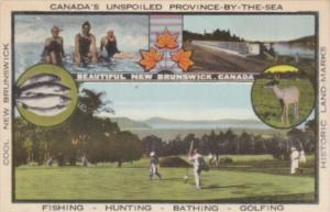 Canada New Brunswick Fishing Hunting Bathing & Golfing Multi View