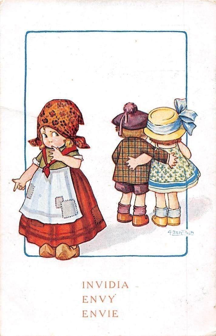 LITTLE GIRLS /& BOY Teatime Pancakes Russian Ethnic New Unposted Postcard