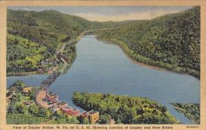 West Virginia ChartestonView Of Gauley Bridge Showing Junction Of Gauley And ...