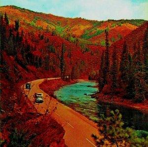 Lewis Y Clark Carretera Lolo Pase Lewiston Idaho Id Unp 1960s Cromo Postal