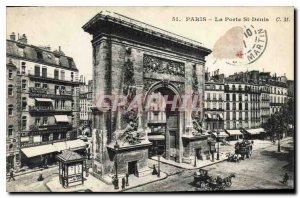 Old Postcard Paris Porte St Denis