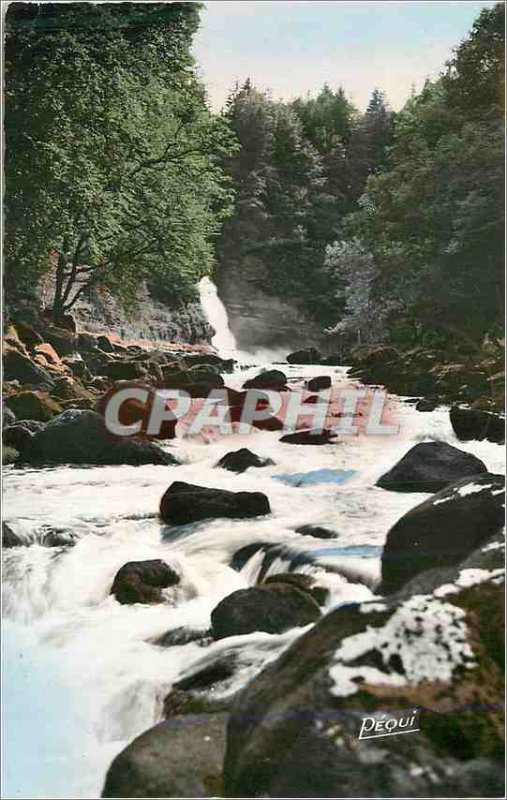 Postcard Modern Franche Comté Le Saut du Doubs Beginning Rapides
