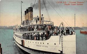 S.S. Princess Victoria   Canadain Pacific  Railway Steam Ship Co.