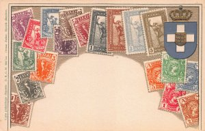 Greece, Stamps on Embossed Postcard, Unused, Published by Ottmar Zieher