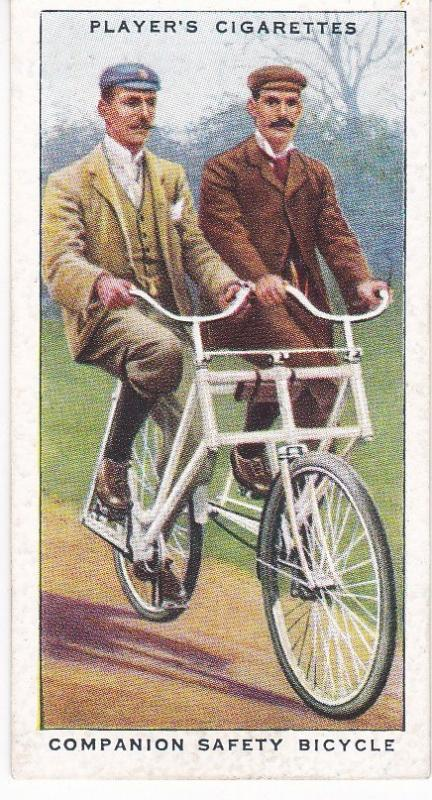 Cigarette Cards Players CYCLING No 20 Companion Safety Bicycle