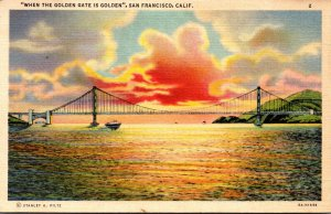 California San Francisco Golden Gate At Sunset