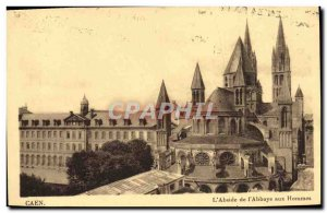 Old Postcard Caen L & # 39Abside L & # 39Abbaye