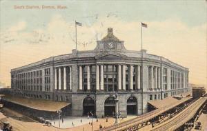 Massachusetts Boston South Station 1915