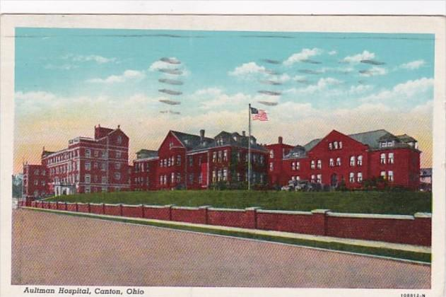 Ohio Canton Aultman Hospital 1948 Curteich