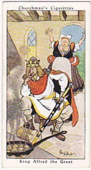 Churchman Vintage Cigarette Card Howlers No 2 King Alfred The Great  1937