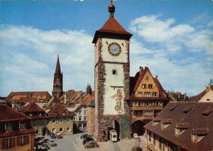 Freiburg Schwarzwald The Swabian's Portal Cars Auto Postcard