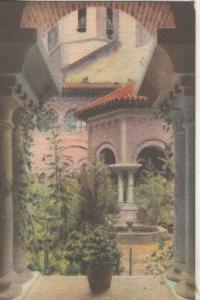 Postal coloreada de epoca 0074 : Detall del Calustre Romanic de Montserrat