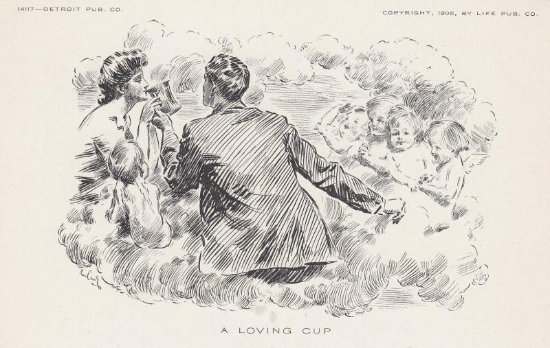 Cherubs, Couple, A Loving Cup, 1906