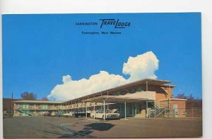 Farmington NM TraveLodge Motel Old Cars Postcard