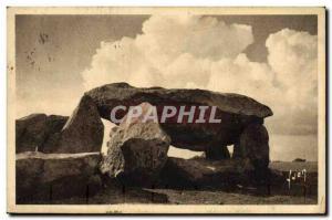 Old Postcard Dolmen Menhir Carnac Dolmende ker Gavat