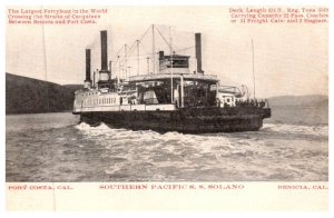 California Benicia , Ferryboat S.S. Solano